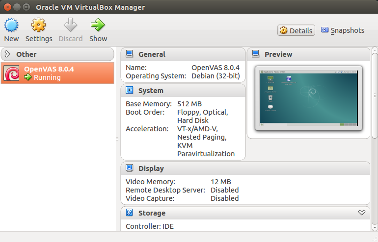 virtual machine with openvas 8.0.4
